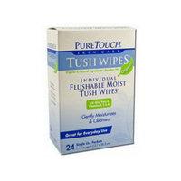 Pure Touch Organics Tush Wipes, 24CT