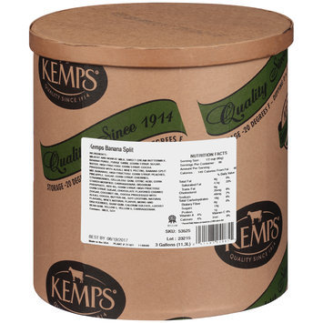 Kemps® Banana Split Ice Cream 3 gal. Tub