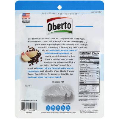 Oberto® Cracked Pepper Snack Sticks 5 oz. Bag