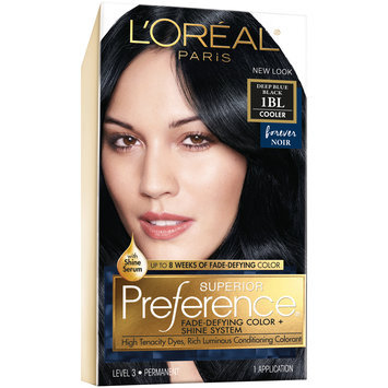L'Oreal® Paris Superior Preference® Hair Color Cooler 1BL Deep Blue Black 1 kt Box