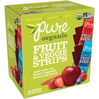 Pure® Organic Strawberry Apple & Wildberry Apple Fruit & Veggie Strips 36-0.49 oz. Packs