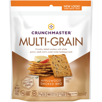 crunchmaster™ applewood smoked bbq multi-grain crackers