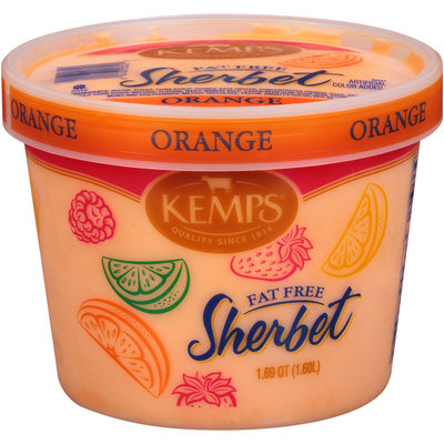 Kemps® Fat Free Orange Sherbet 1.69 qt. Tub