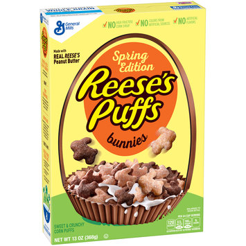 Reese's Spring Edition Puffs Bunnies Cereal 13 oz. Box