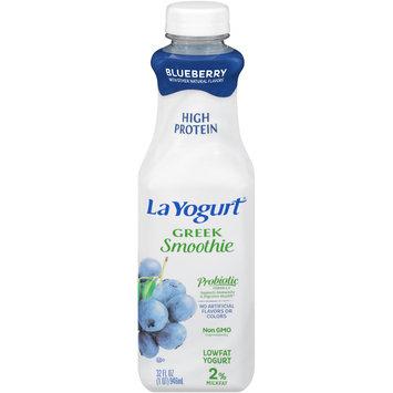 La Yogurt® Probiotic Blueberry Greek Smoothie Lowfat Yogurt 32 fl. oz. Bottle