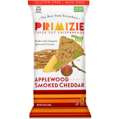 Primizie® Applewood Smoked Cheddar Thick Cut Crispbreads