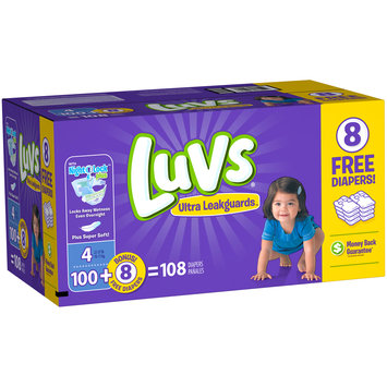 Luvs® Ultra Leakguards™ Size 4 Diapers