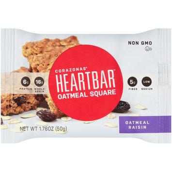 Corazonas® Heartbar™ Oatmeal Raisin Oatmeal Square Bar 1.76 oz. Wrapper