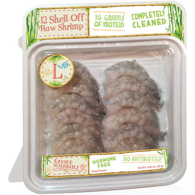 Rubicon Resources® Large Shell-Off Raw Shrimp 12 ct Pack