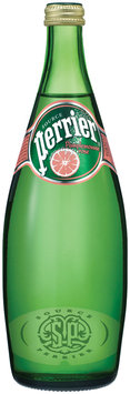 PERRIER Sparkling Natural Mineral Water, Pink Grapefruit 25.3-ounce glass bottle