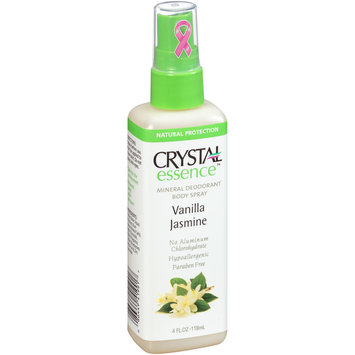 Crystal essence™ Vanilla Jasmine Mineral Deodorant Body Spray 4 fl. oz. Spray Bottle