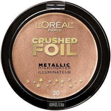 L'Oreal® Paris Crushed Foils Metallic Highlighter 20 Gilded Glow 0.09 oz. Plastic Compact
