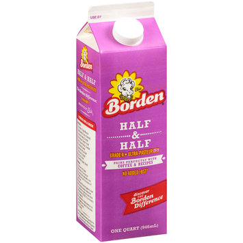 Borden® Half & Half Cream 1 qt. Carton