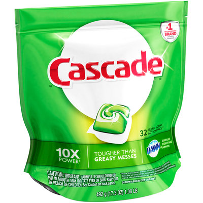 Cascade® Dawn® Fresh Scent Action Pacs™ Dishwasher Detergent 32 ct Pouch