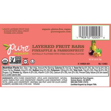 Pure® Organic Layered Pineapple & Passionfruit Fruit Bars 0.63 oz. Pack