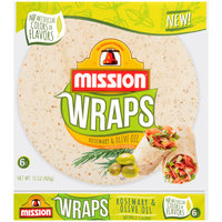Mission® Wraps™ Rosemary & Olive Oil Tortillas 6 ct Bag