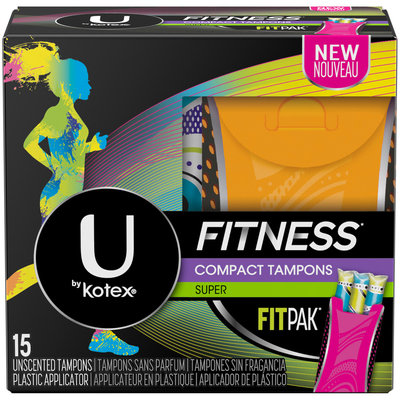 U by Kotex Fitness* Tampons with FITPAK Super