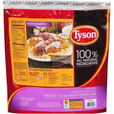 Tyson® Breaded Uncooked Chicken Breast Tenderloins 64 oz. Bag