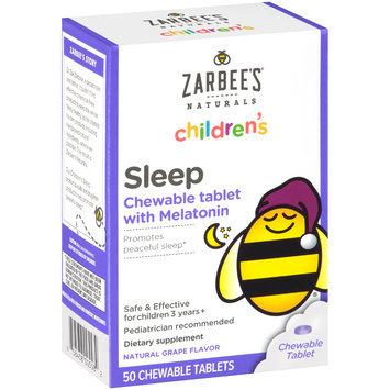 Zarbee's Naturals Children's Sleep with Melatonin Chewable Tablets, Natural Grape Flavor, 50 ct Box