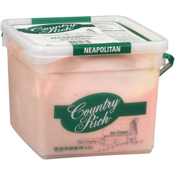 Country Rich® Reduced Fat Neapolitan Ice Cream 1.13 Gal Pail