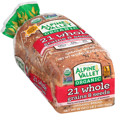 Alpine Valley™ Organic 21 Whole Grains & Seeds Bread 18 oz. Bag