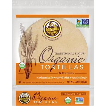 La Tortilla Factory™ Traditional Flour Organic Tortillas 7.62 oz. oz. Bag