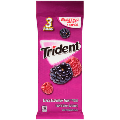 Trident Black Raspberry Twist Sugar Free Gum