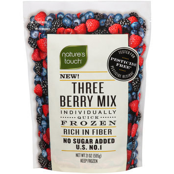 Nature's Touch™ Individually Quick Frozen Three Berry Mix 21 oz. Bag