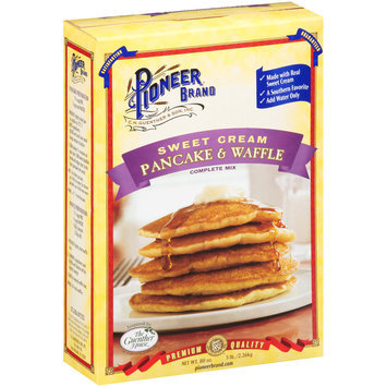 Pioneer® Brand Sweet Cream Pancake & Waffle Complete Mix 80 oz. Box