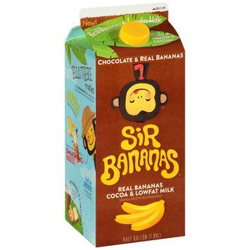 Sir Bananas™ Chocolate Lowfat Bananamilk 0.5 gal Carton