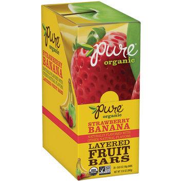 Pure® Organic Strawberry Banana Layered Fruit Bars 20-0.63 oz. Bars