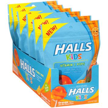 Halls Kids Orange Vitamin C Pops Dietary Supplement 6-10 ct Pouches