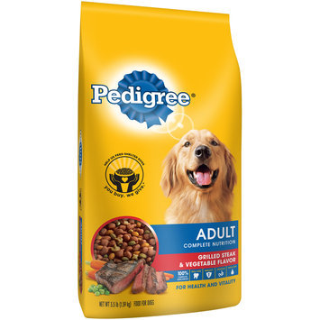 Pedigree® Adult Complete Nutrition Grilled Steak & Vegetable Flavor
