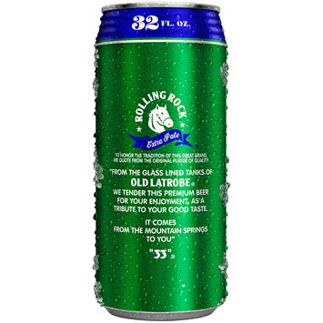 Rolling Rock® Extra Pale Premium Beer 32 fl. oz. Can