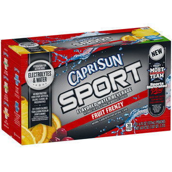 Capri Sun® Sport Fruit Frenzy Flavored Water Beverage 10-6 fl. oz. Pouches