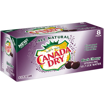 Canada Dry Black Cherry Sparkling Seltzer Water, 12 Fl Oz Cans, 8 Pack