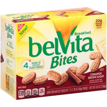 belVita Bites Cinnamon Brown Sugar Mini Breakfast Biscuits 5-1.76 oz. Packs