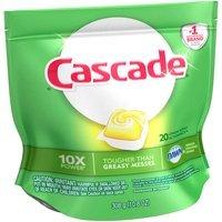 Cascade® Dawn® Lemon Scent Action Pacs™ Dishwasher Detergent 20 ct Pouch