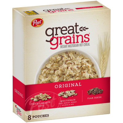 Post® Great Grains® Original Instant Multigrain Hot Cereal 11.8 oz. Box