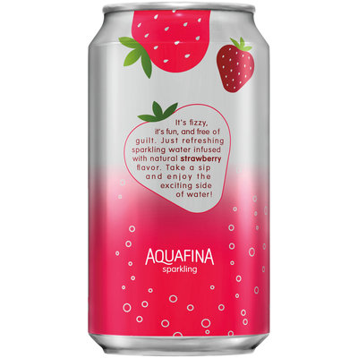 Aquafina Strawberry Sparkling Water Beverage