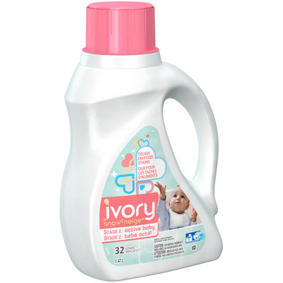 Ivory Snow Stage 2 Active Baby Gentle Care Liquid Laundry Detergent 1.47 L Jug
