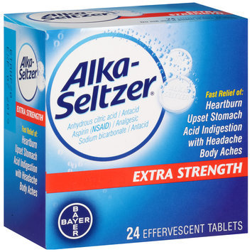 Alka-Seltzer® Extra Strength Antacid/Analgesic Effervescent Tablets 24 ct Box