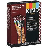 KIND® Plus Almond Walnut Macadamia Fruit & Nut Bars With Peanuts