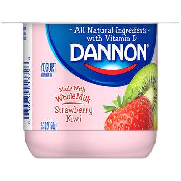 Brand Dannon® Blended Whole Milk Yogurt Strawberry Kiwi 5.3oz Single Serve
