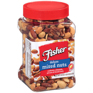 Fisher® Deluxe Mixed Nuts 24 oz. Plastic Container