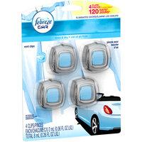 Febreze CAR Linen & Sky Vent Clip Air Freshener 4-2 mL Packs