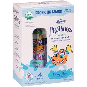 Lifeway® ProBugs™ Pretty Plain™ Organic Whole Milk Kefir Cultured Milk Smoothie 4-4 fl. oz. Box