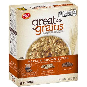 Post® Great Grains® Maple & Brown Sugar Instant Multigrain Hot Cereal 11.6 oz Box