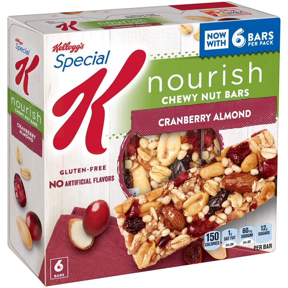 Kellogg's® Special K® Nourish® Cranberry Almond Chewy Nut Bar 6-1.16 oz. Bars