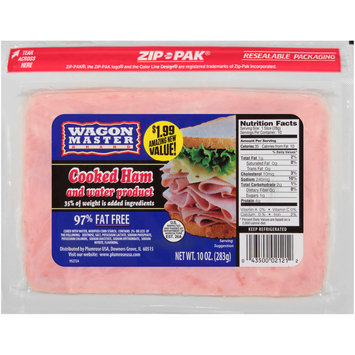 Wagon Master Brand Cooked Ham and Water Product 10 oz. ZIP-PAK®